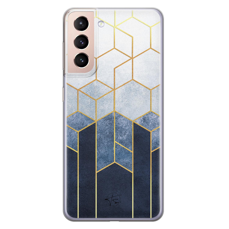 Telefoonhoesje Store Samsung Galaxy S21 Plus siliconen hoesje - Geometrisch fade art