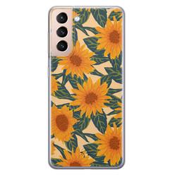 Telefoonhoesje Store Samsung Galaxy S21 Plus siliconen hoesje - Zonnebloemen