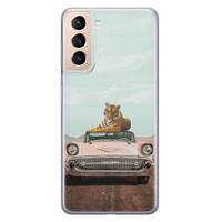 ELLECHIQ Samsung Galaxy S21 Plus siliconen hoesje - Chill tijger