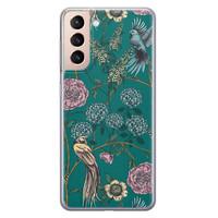 Telefoonhoesje Store Samsung Galaxy S21 Plus siliconen hoesje - Bloomy birds