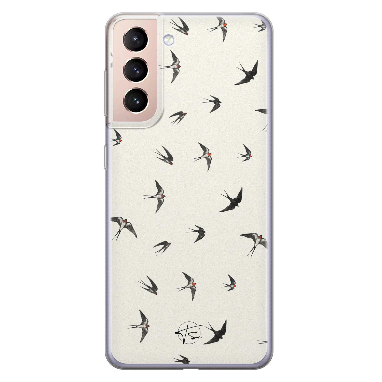Telefoonhoesje Store Samsung Galaxy S21 Plus siliconen hoesje - Freedom birds