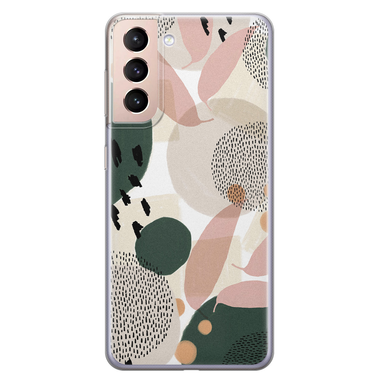 Leuke Telefoonhoesjes Samsung Galaxy S21 Plus siliconen hoesje - Abstract print