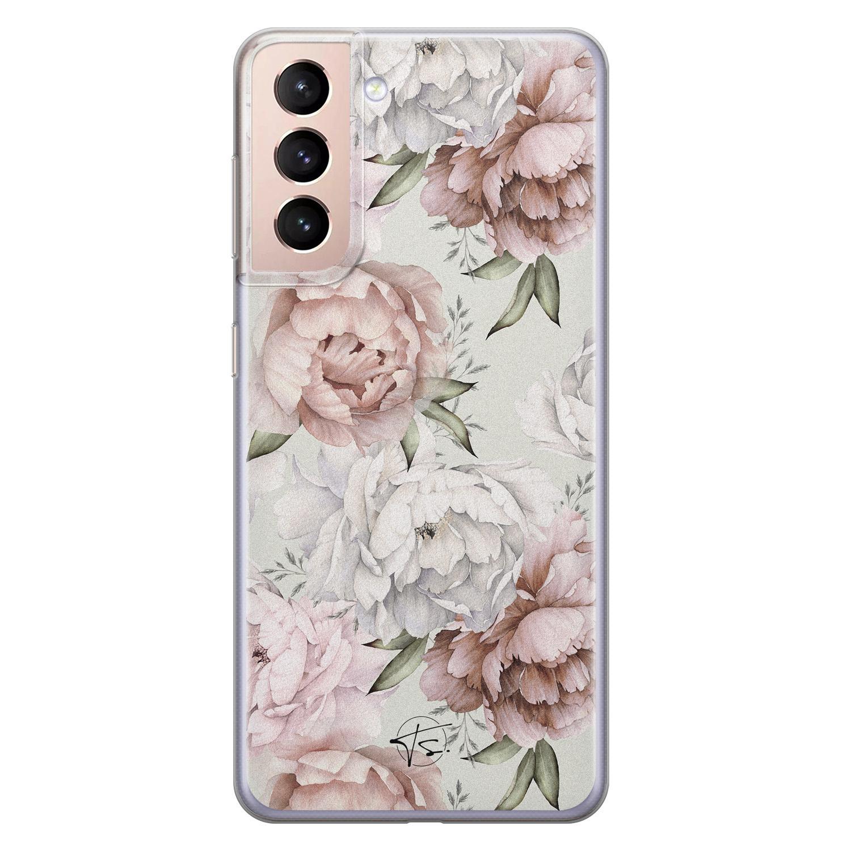 Telefoonhoesje Store Samsung Galaxy S21 Plus siliconen hoesje - Classy flowers