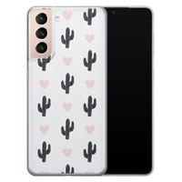 Leuke Telefoonhoesjes Samsung Galaxy S21 Plus siliconen hoesje - Cactus love