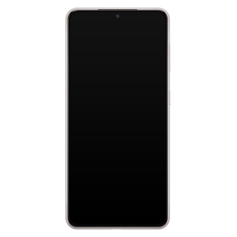 Telefoonhoesje Store Samsung Galaxy S21 Plus siliconen hoesje - Marmer Limegroen