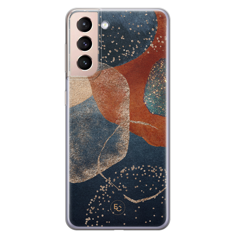 ELLECHIQ Samsung Galaxy S21 Plus siliconen hoesje - Abstract Terracotta
