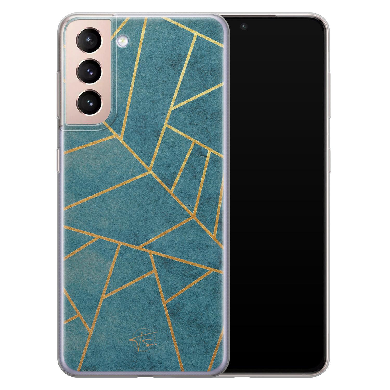 Telefoonhoesje Store Samsung Galaxy S21 Plus siliconen hoesje - Abstract blauw