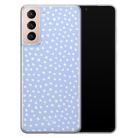 Telefoonhoesje Store Samsung Galaxy S21 Plus siliconen hoesje - Purple dots