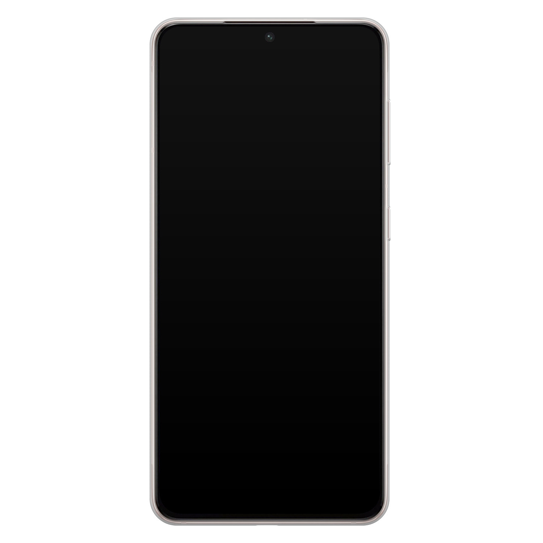 Telefoonhoesje Store Samsung Galaxy S21 Plus siliconen hoesje - Abstract peach