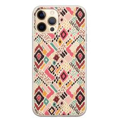 Telefoonhoesje Store iPhone 12 siliconen hoesje - Boho vibes