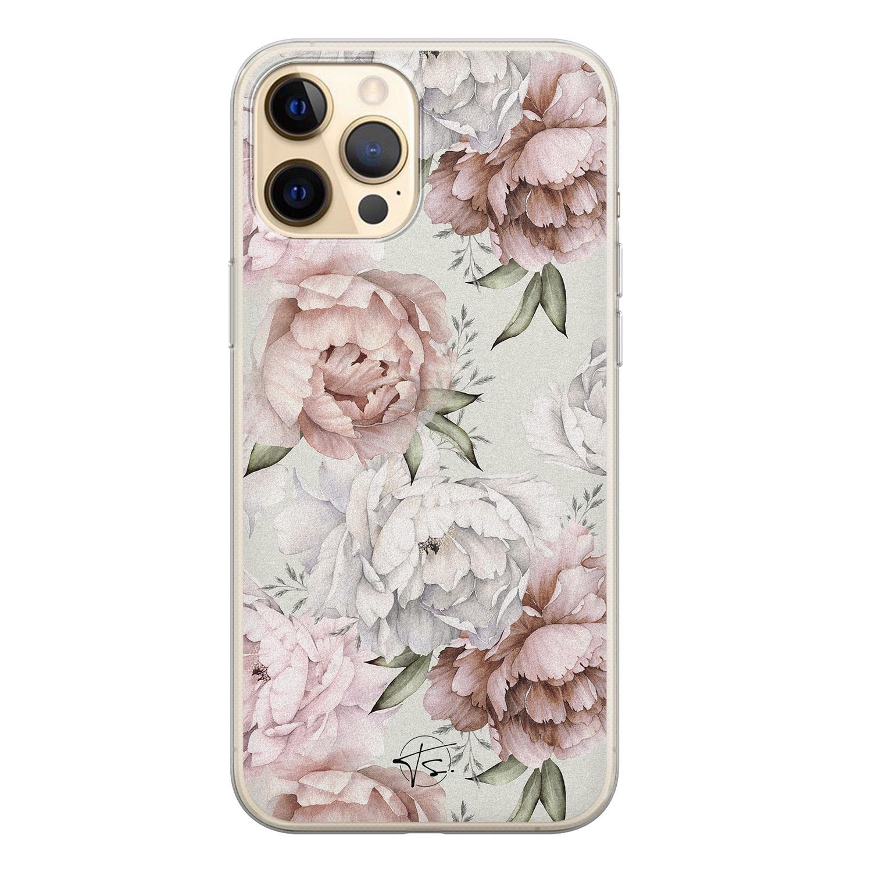 Telefoonhoesje Store iPhone 12 siliconen hoesje - Classy flowers