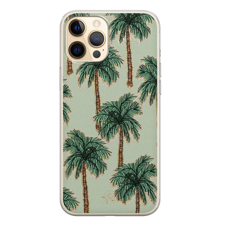 Telefoonhoesje Store iPhone 12 siliconen hoesje - Palmbomen