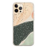 Telefoonhoesje Store iPhone 12 siliconen hoesje - Abstract peach