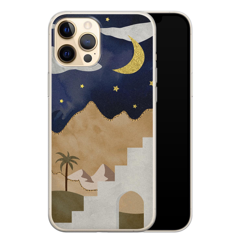 Leuke Telefoonhoesjes iPhone 12 siliconen hoesje - Woestijn