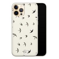 Telefoonhoesje Store iPhone 12 siliconen hoesje - Freedom birds