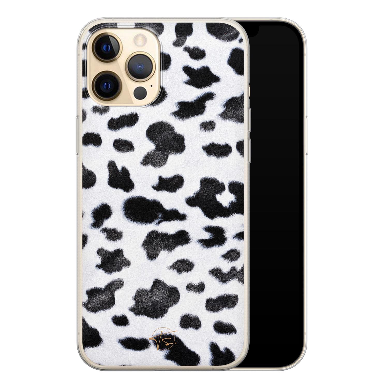 Telefoonhoesje Store iPhone 12 siliconen hoesje - Koeienprint