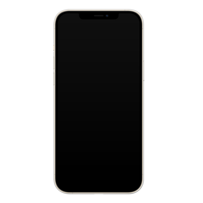 Casimoda iPhone 12 siliconen hoesje - Marmer paars