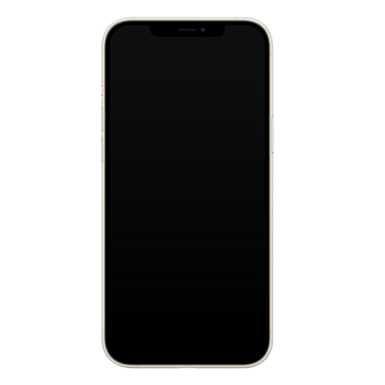 Telefoonhoesje Store iPhone 12 siliconen hoesje - Geometrisch marmer