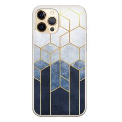 Telefoonhoesje Store iPhone 12 Pro siliconen hoesje - Geometrisch fade art