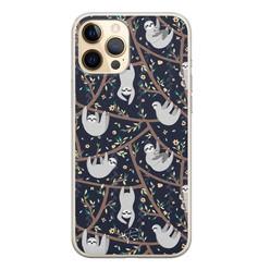 Telefoonhoesje Store iPhone 12 Pro siliconen hoesje - Luiaard