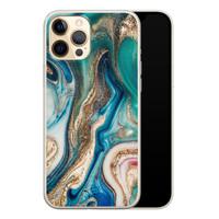 Telefoonhoesje Store iPhone 12 Pro siliconen hoesje - Magic marble