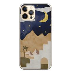 Leuke Telefoonhoesjes iPhone 12 Pro siliconen hoesje - Woestijn