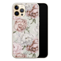 Telefoonhoesje Store iPhone 12 Pro siliconen hoesje - Classy flowers
