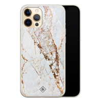 Casimoda iPhone 12 Pro siliconen hoesje - Goud marmer