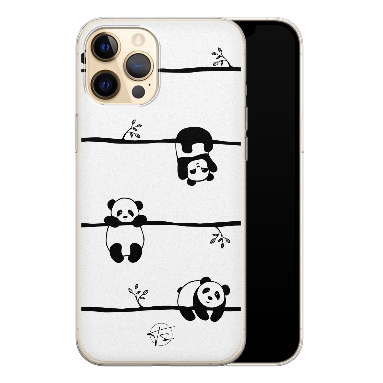 Telefoonhoesje Store iPhone 12 Pro siliconen hoesje - Panda