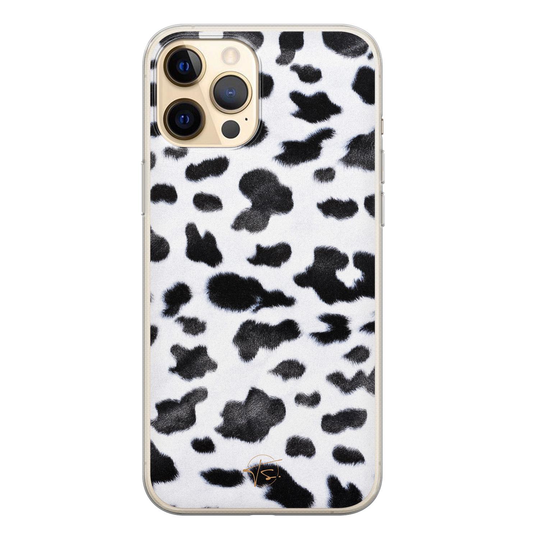 Telefoonhoesje Store iPhone 12 Pro siliconen hoesje - Koeienprint