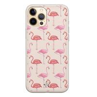 Telefoonhoesje Store iPhone 12 Pro siliconen hoesje - Flamingo