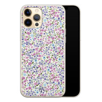 Telefoonhoesje Store iPhone 12 Pro siliconen hoesje - Purple Garden