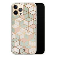 ELLECHIQ iPhone 12 Pro siliconen hoesje - Pastel Kubus