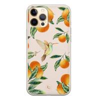 ELLECHIQ iPhone 12 Pro siliconen hoesje - Tropical Lemonade