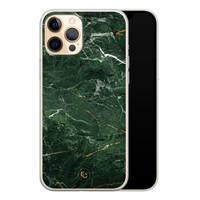 ELLECHIQ iPhone 12 Pro siliconen hoesje - Marble jade green