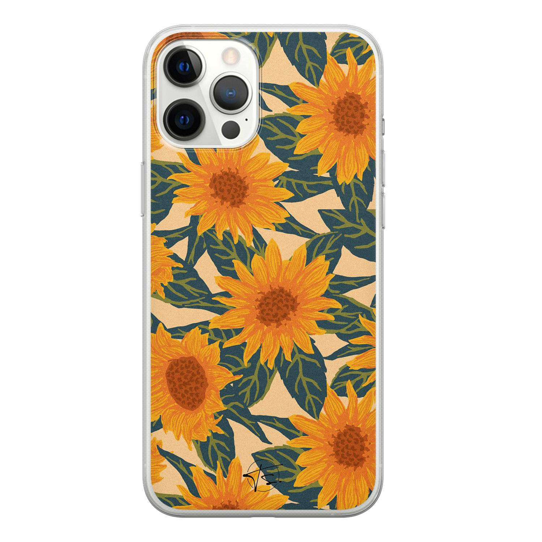 Telefoonhoesje Store iPhone 12 Pro Max siliconen hoesje - Zonnebloemen