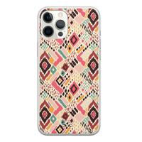 Telefoonhoesje Store iPhone 12 Pro Max siliconen hoesje - Boho vibes