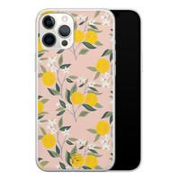 Telefoonhoesje Store iPhone 12 Pro Max siliconen hoesje - Citroenen