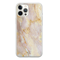 ELLECHIQ iPhone 12 Pro Max siliconen hoesje - Stay Golden Marble