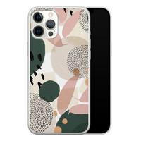 Leuke Telefoonhoesjes iPhone 12 Pro Max siliconen hoesje - Abstract