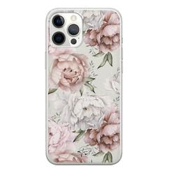 Telefoonhoesje Store iPhone 12 Pro Max siliconen hoesje - Classy flowers