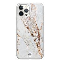 Casimoda iPhone 12 Pro Max siliconen hoesje - Goud marmer