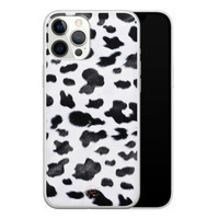 Telefoonhoesje Store iPhone 12 Pro Max siliconen hoesje - Koeienprint