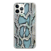 ELLECHIQ iPhone 12 Pro Max siliconen hoesje - Baby Snake blue