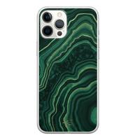 Telefoonhoesje Store iPhone 12 Pro Max siliconen hoesje - Agate groen