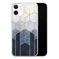 Telefoonhoesje Store iPhone 12 mini siliconen hoesje - Geometrisch fade art