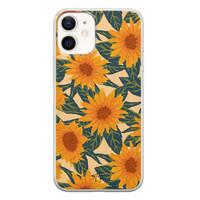 Telefoonhoesje Store iPhone 12 mini siliconen hoesje - Zonnebloemen