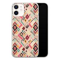 Telefoonhoesje Store iPhone 12 mini siliconen hoesje - Boho vibes