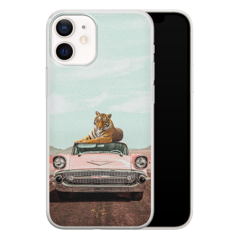 ELLECHIQ iPhone 12 mini siliconen hoesje - Chill tijger