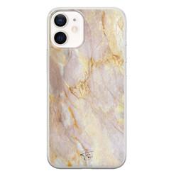 ELLECHIQ iPhone 12 mini siliconen hoesje - Stay Golden Marble